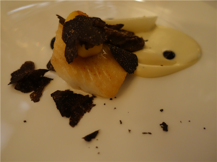 John Dory with wife asparagus and truffles